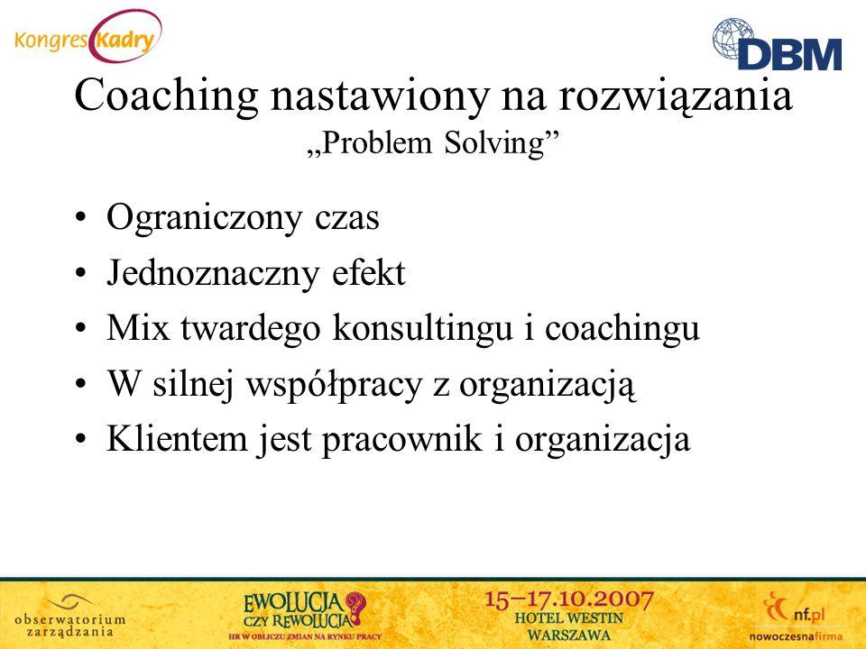 """Coaching nastawiony na rozwiązania """"Problem Solving"""