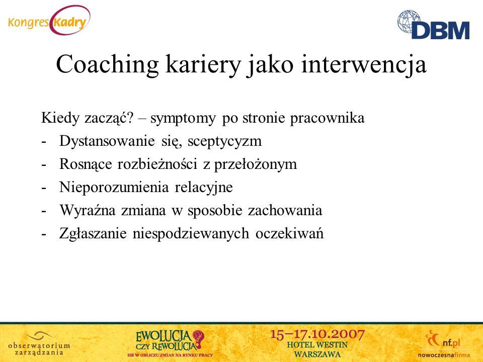Coaching kariery jako interwencja