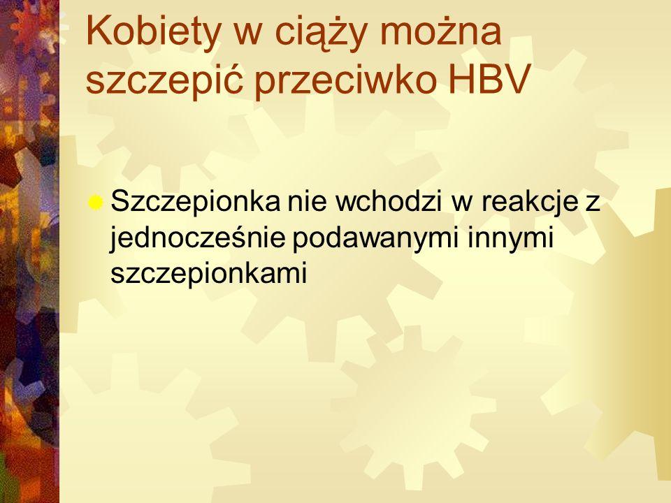Kobiety w ciąży można szczepić przeciwko HBV