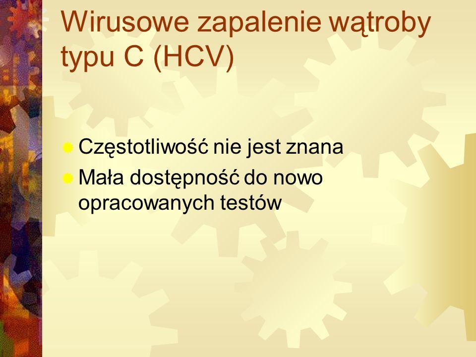 Wirusowe zapalenie wątroby typu C (HCV)