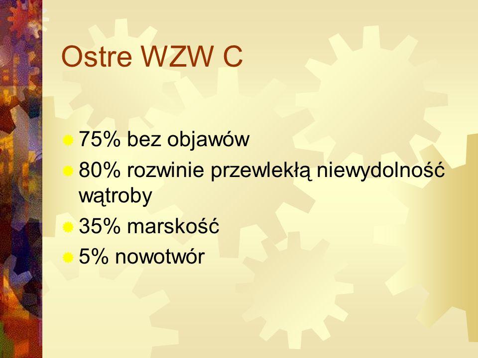 Ostre WZW C 75% bez objawów