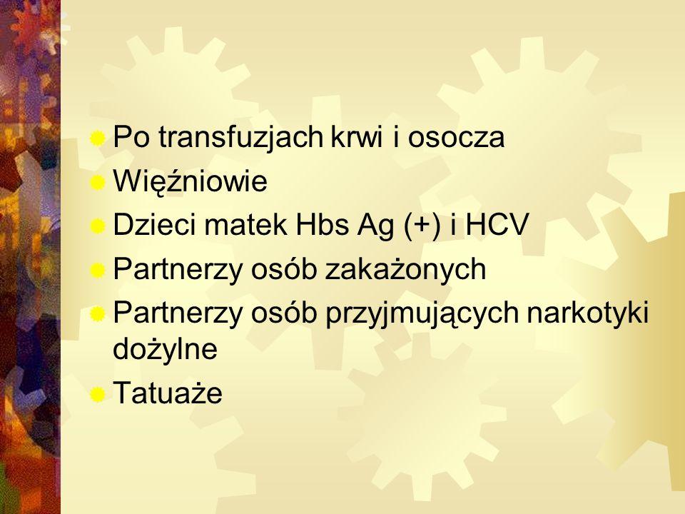 Po transfuzjach krwi i osocza