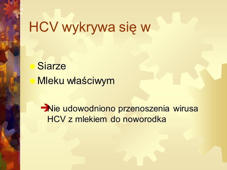HCV wykrywa się w Siarze Mleku właściwym