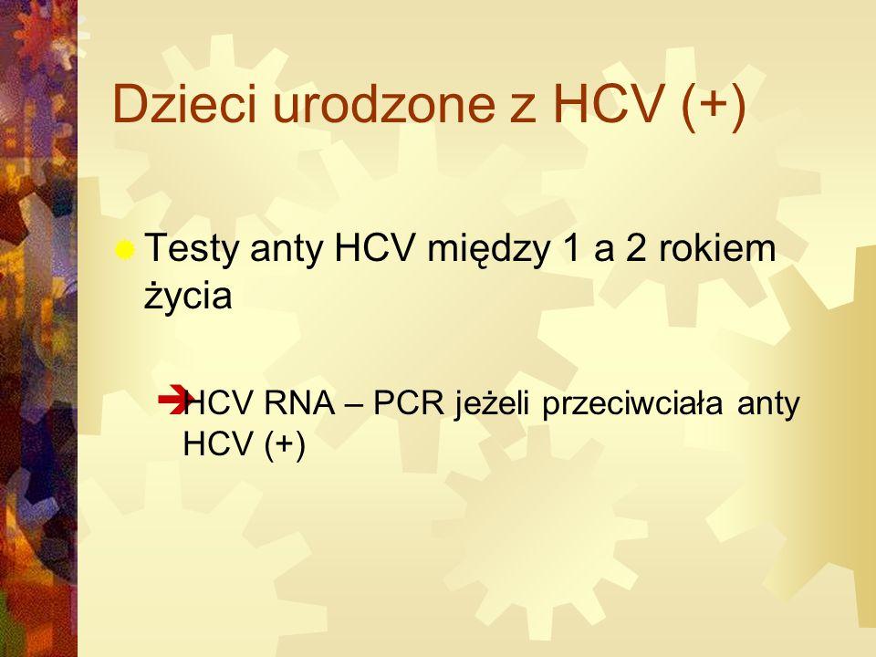 Dzieci urodzone z HCV (+)