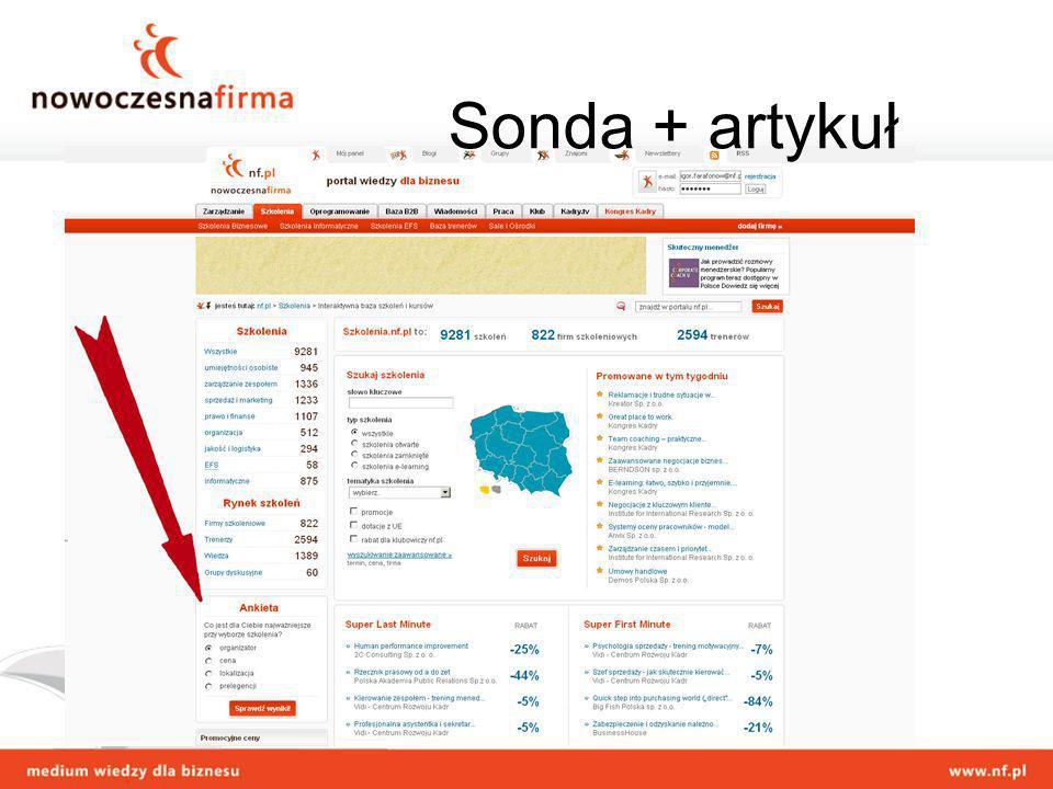 Sonda + artykuł