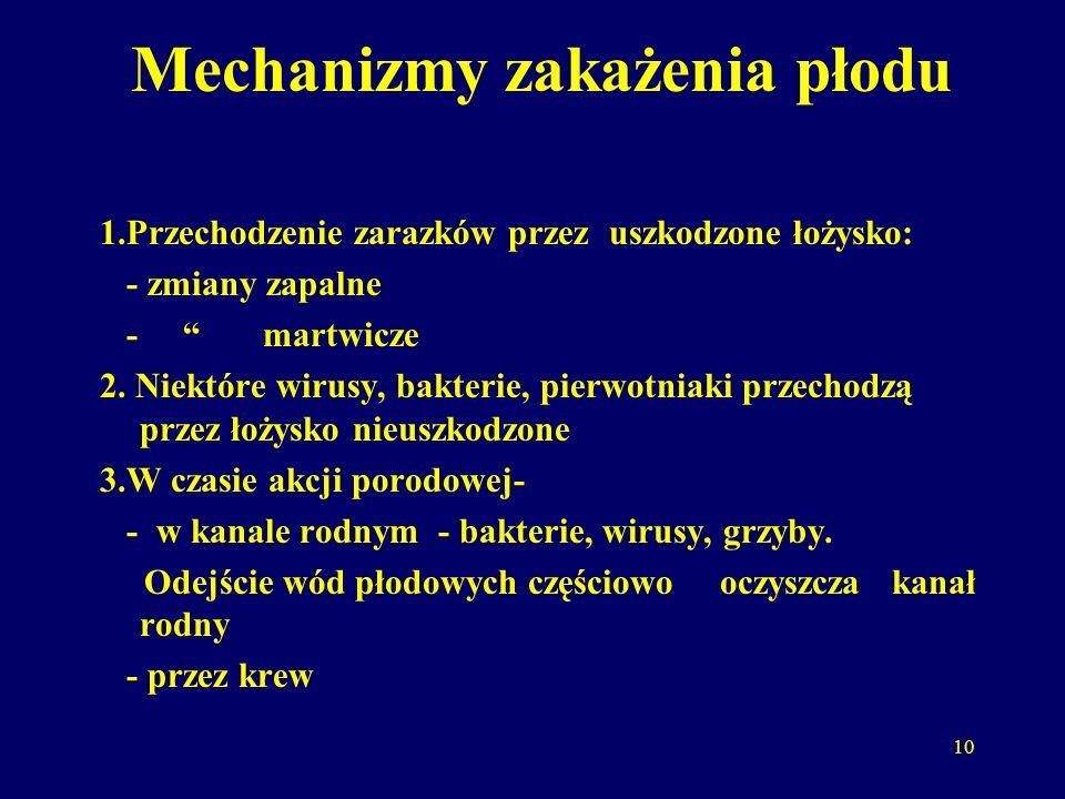 Mechanizmy zakażenia płodu