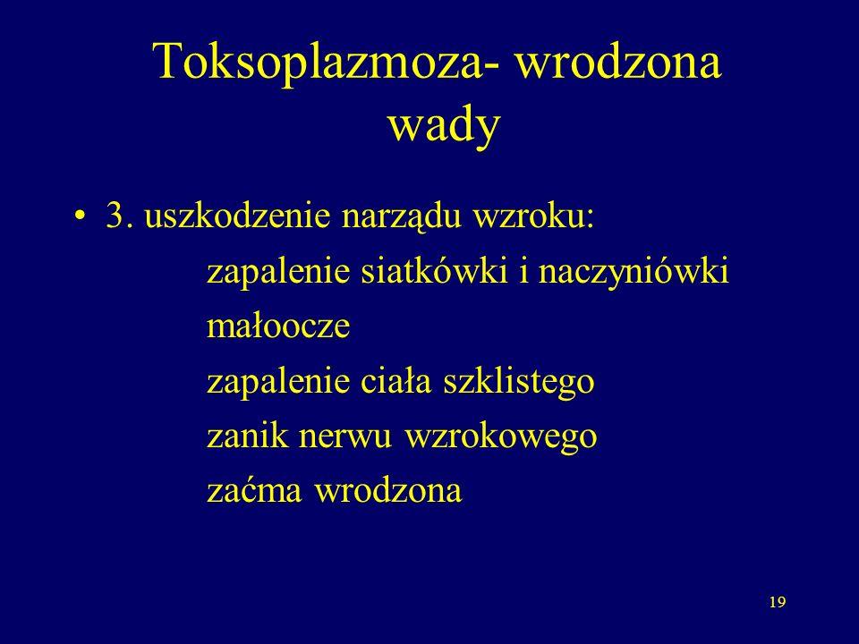 Toksoplazmoza- wrodzona wady