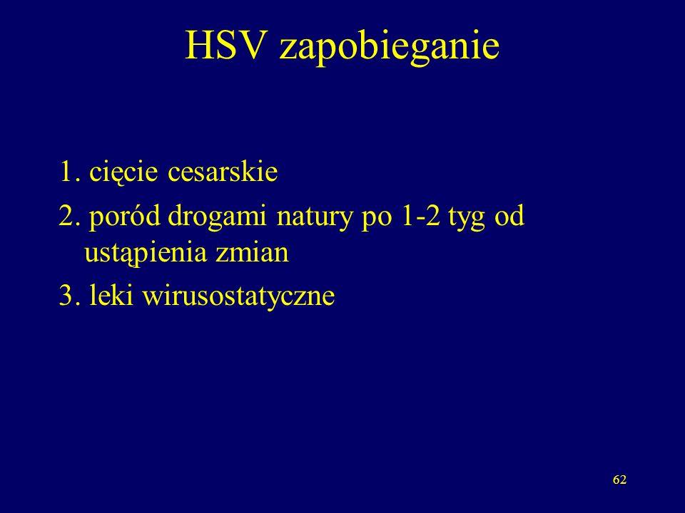 HSV zapobieganie 1. cięcie cesarskie