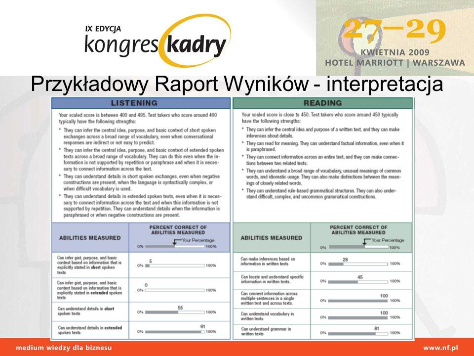 Przykładowy Raport Wyników - interpretacja