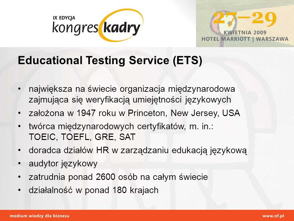 Educational Testing Service (ETS)