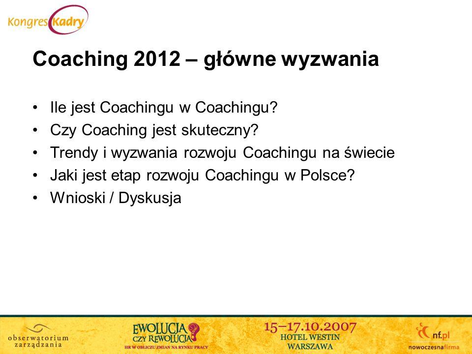 Coaching 2012 – główne wyzwania
