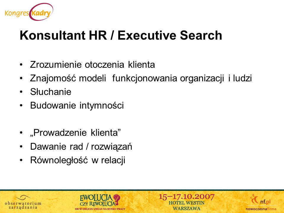 Konsultant HR / Executive Search