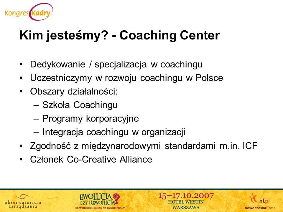 Kim jesteśmy - Coaching Center