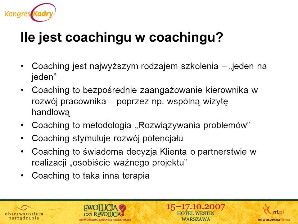 Ile jest coachingu w coachingu
