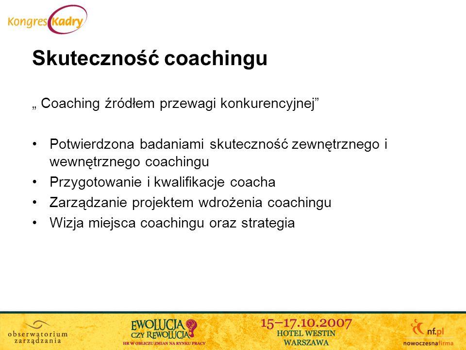 Skuteczność coachingu