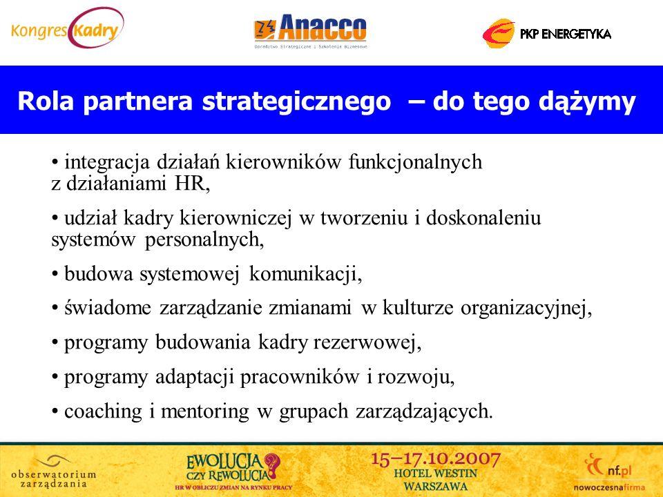 Rola partnera strategicznego – do tego dążymy