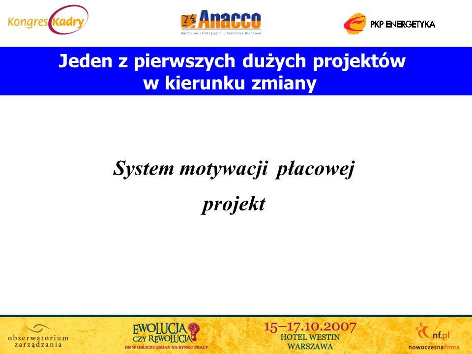 Jeden z pierwszych dużych projektów System motywacji płacowej