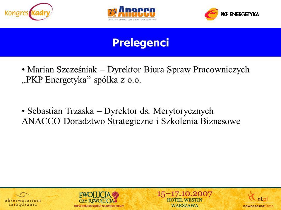 """Prelegenci Marian Szcześniak – Dyrektor Biura Spraw Pracowniczych """"PKP Energetyka spółka z o.o."""