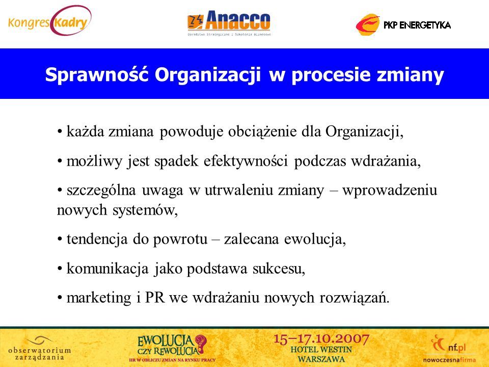 Sprawność Organizacji w procesie zmiany
