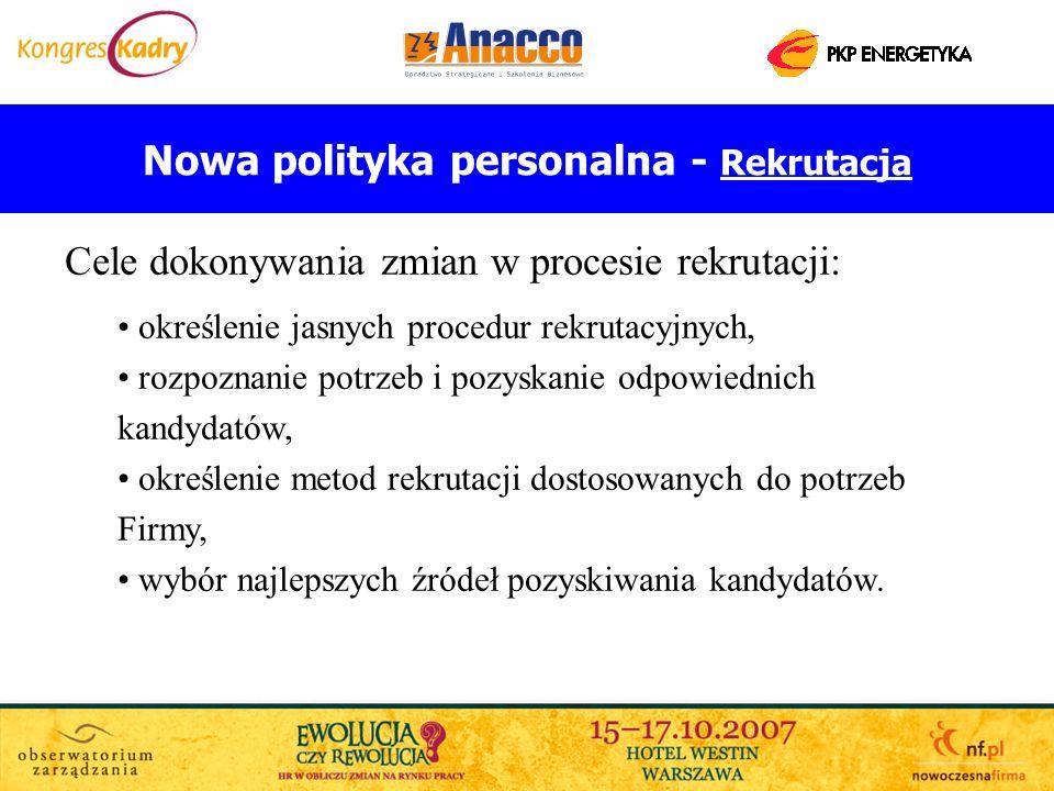 Nowa polityka personalna - Rekrutacja