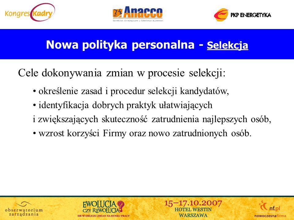 Nowa polityka personalna - Selekcja