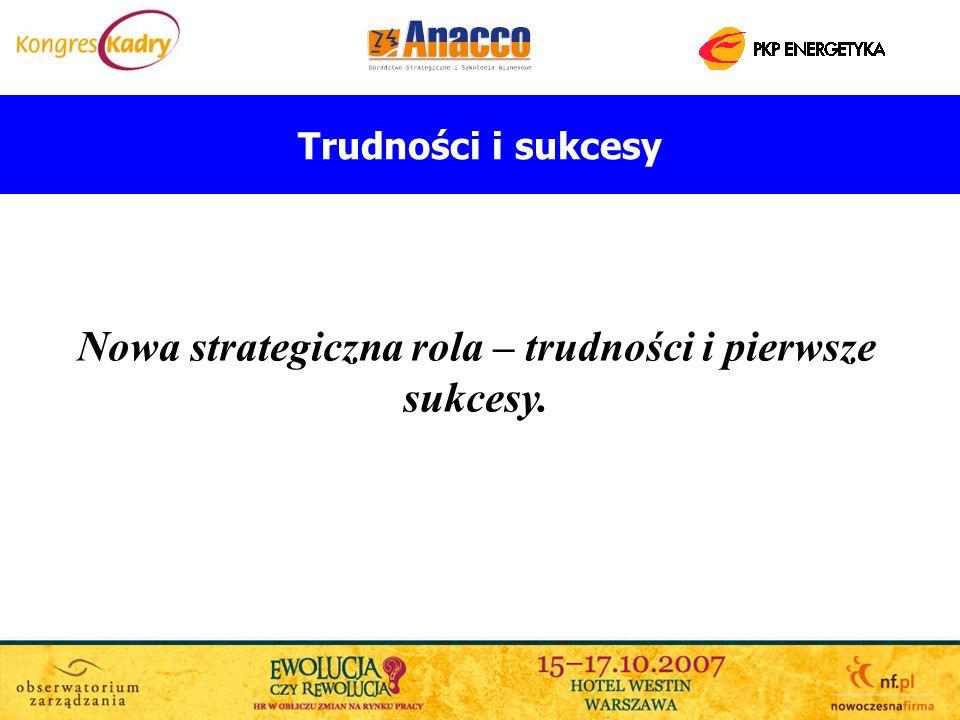 Nowa strategiczna rola – trudności i pierwsze sukcesy.
