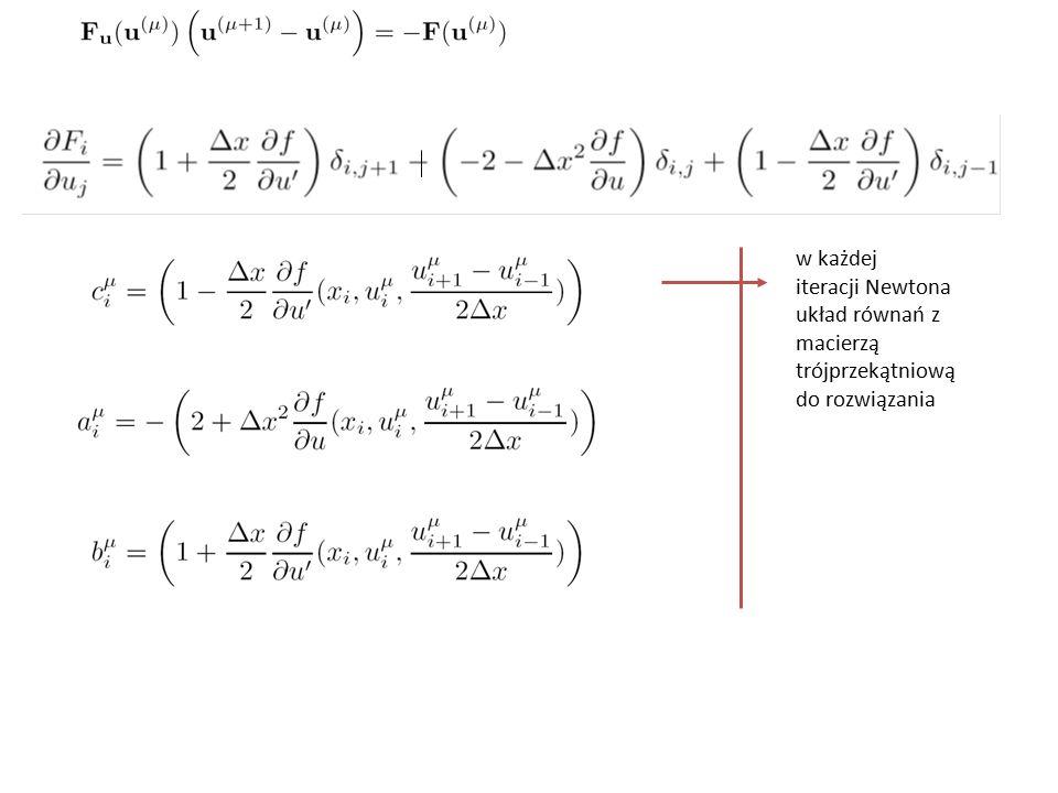 w każdej iteracji Newtona