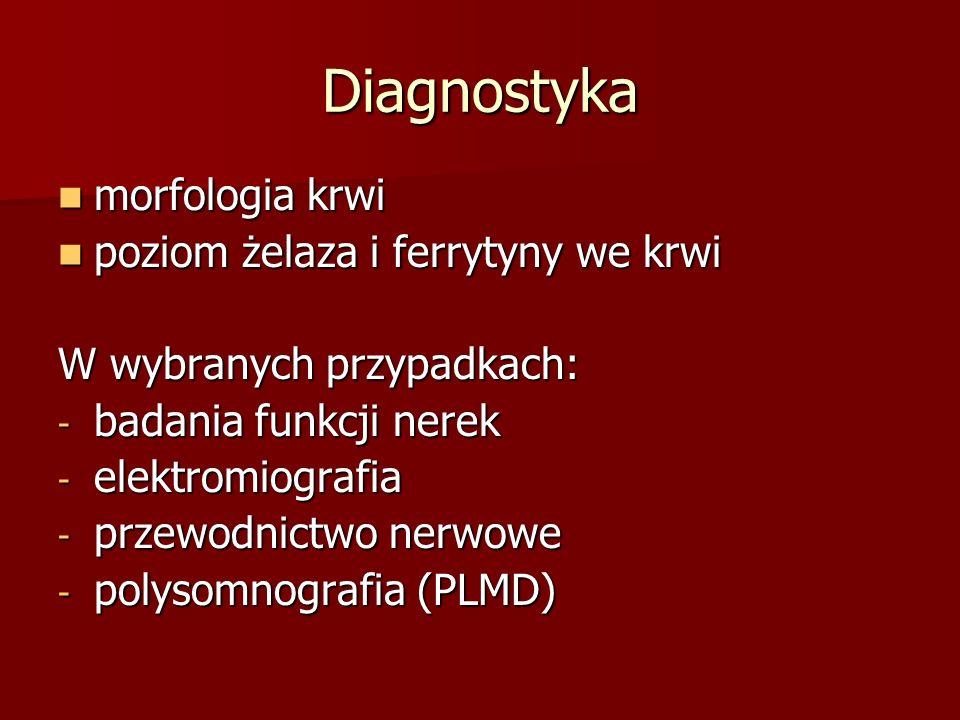 Diagnostyka morfologia krwi poziom żelaza i ferrytyny we krwi