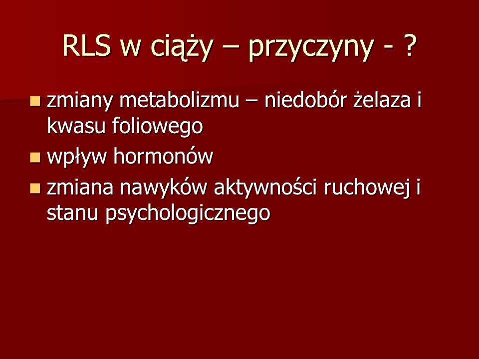 RLS w ciąży – przyczyny -