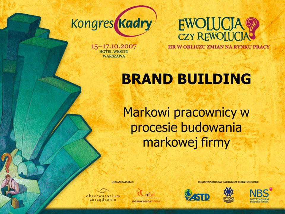 BRAND BUILDING Markowi pracownicy w procesie budowania markowej firmy