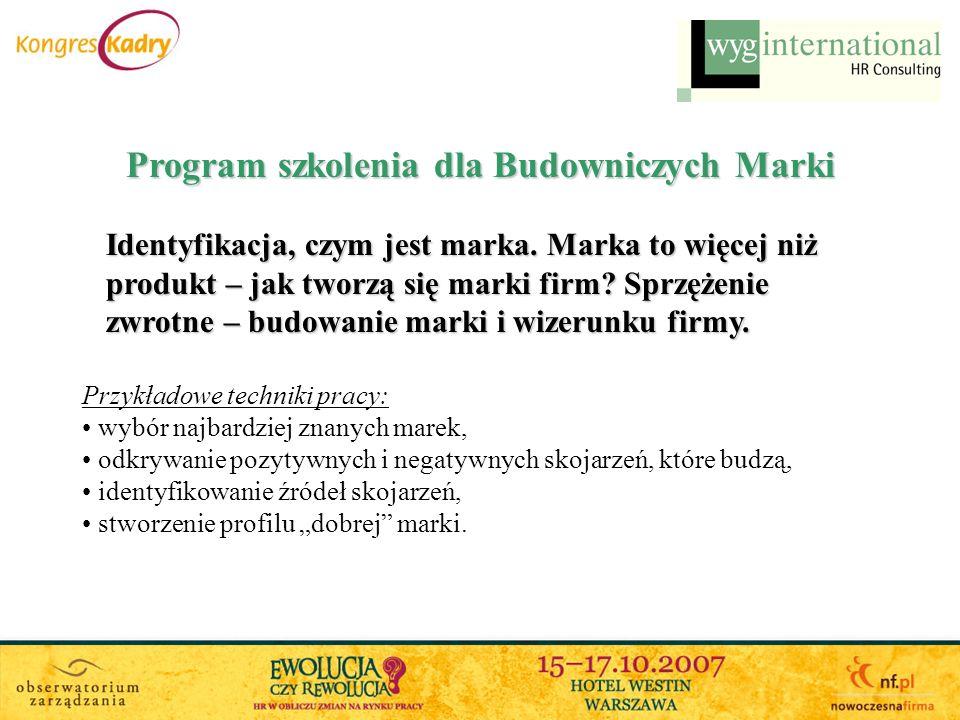 Program szkolenia dla Budowniczych Marki