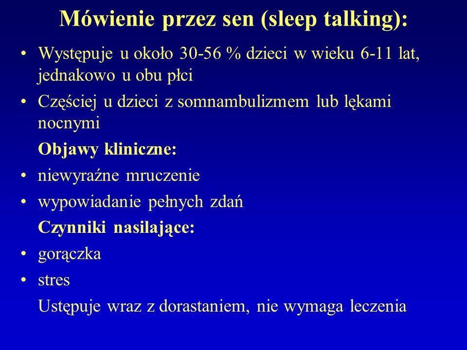 Mówienie przez sen (sleep talking):