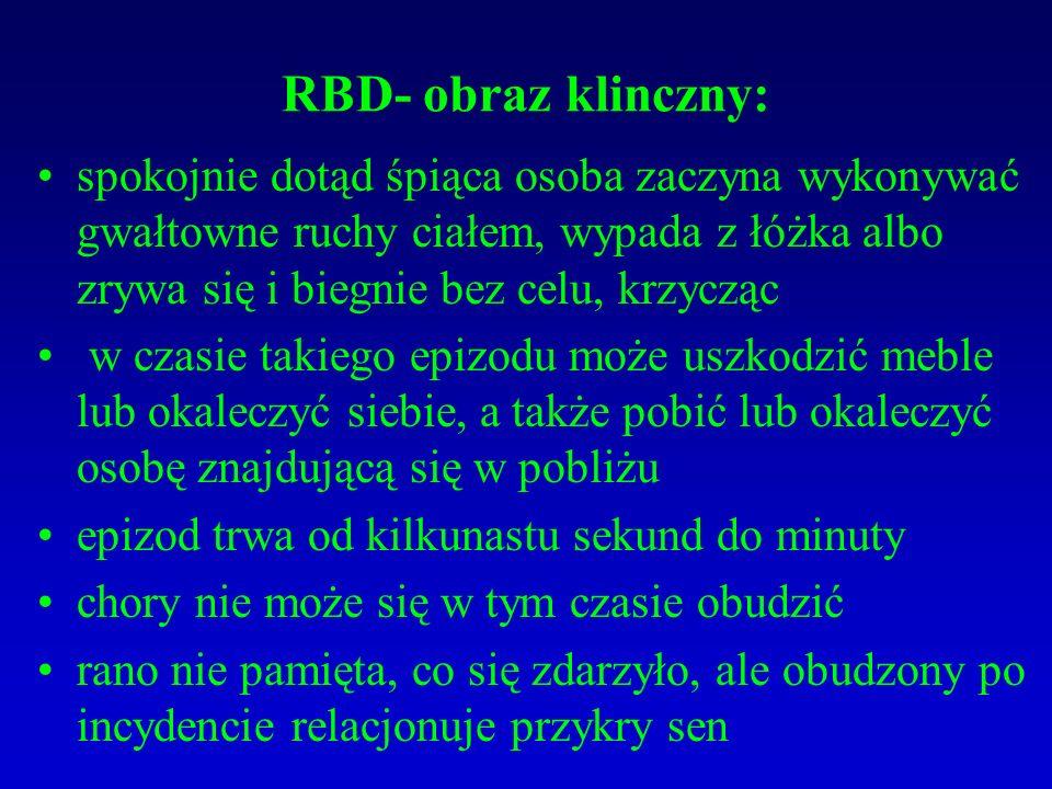 RBD- obraz klinczny: