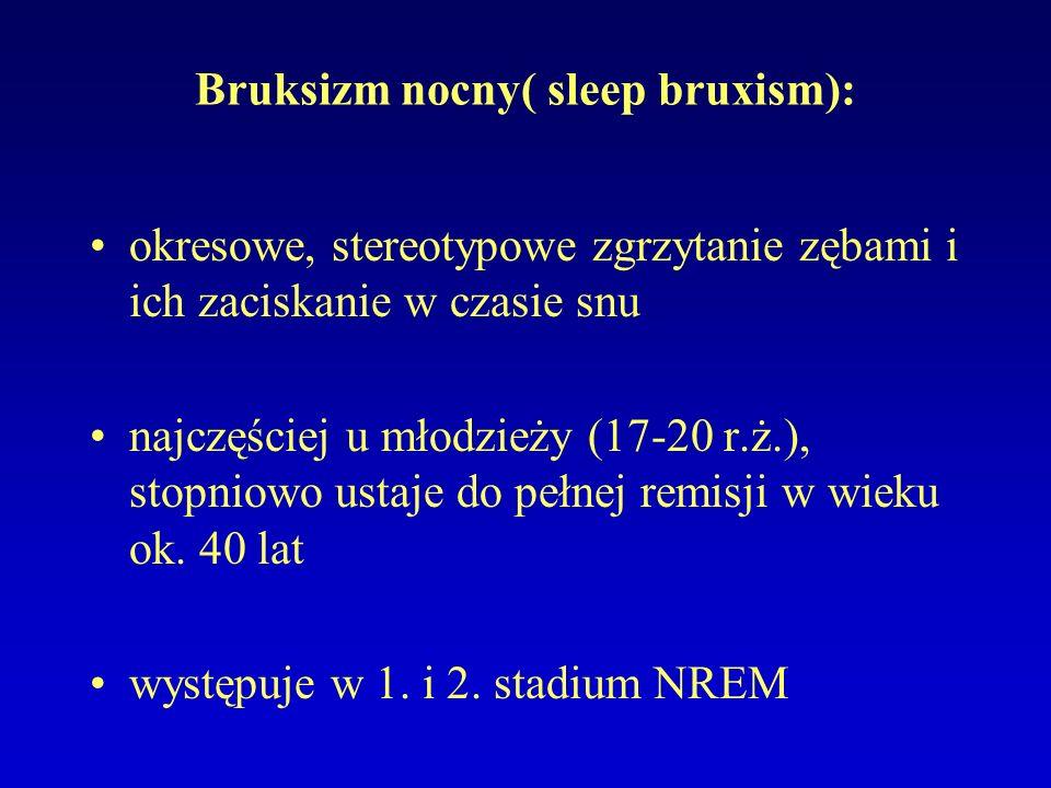 Bruksizm nocny( sleep bruxism):