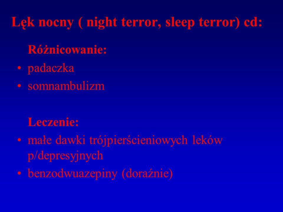 Lęk nocny ( night terror, sleep terror) cd: