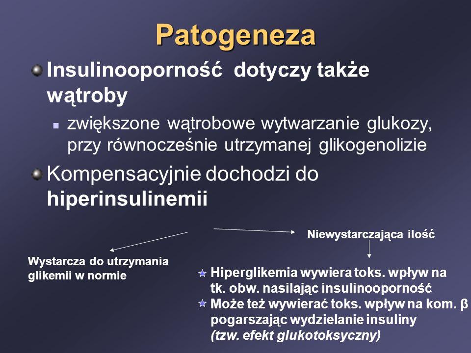 Patogeneza Insulinooporność dotyczy także wątroby