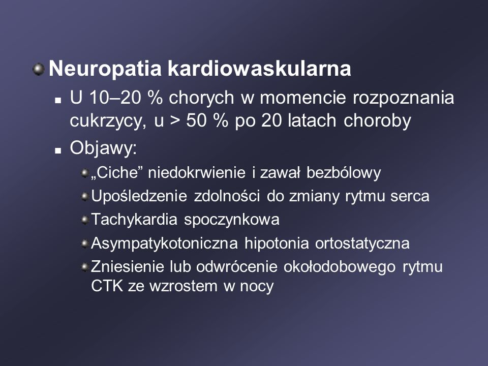Neuropatia kardiowaskularna