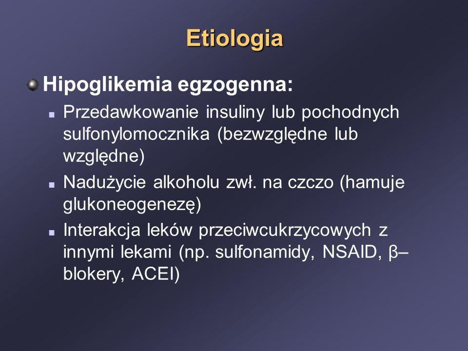 Etiologia Hipoglikemia egzogenna: