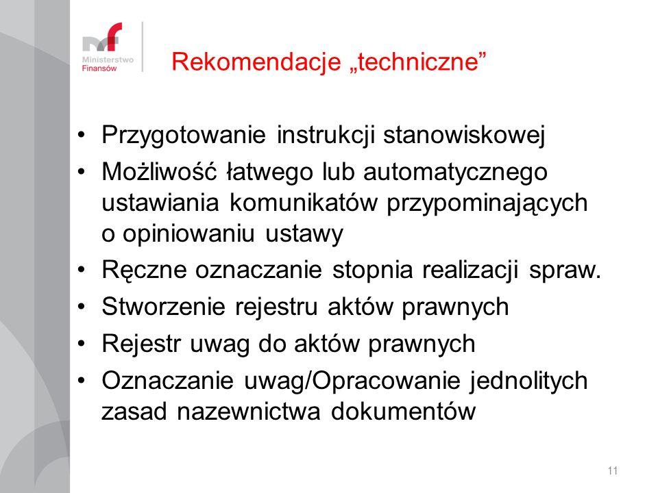 "Rekomendacje ""techniczne"