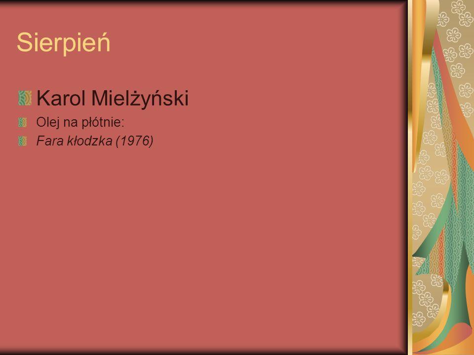 Sierpień Karol Mielżyński Olej na płótnie: Fara kłodzka (1976)