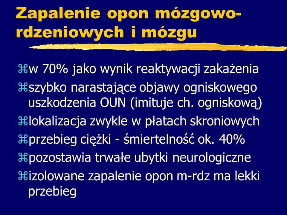 Zapalenie opon mózgowo-rdzeniowych i mózgu