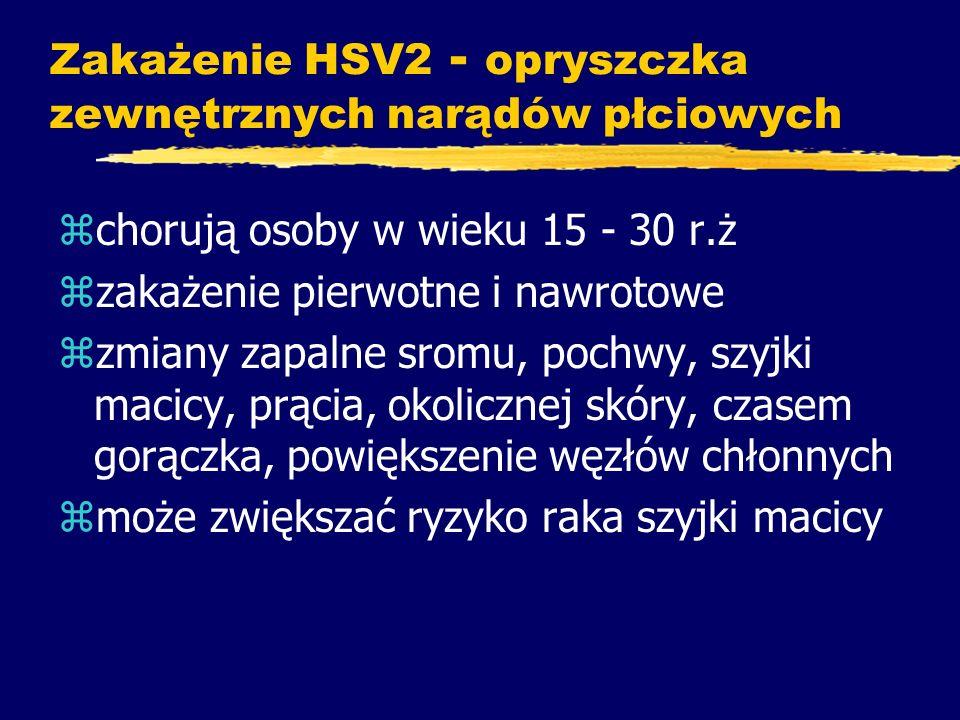 Zakażenie HSV2 - opryszczka zewnętrznych narądów płciowych