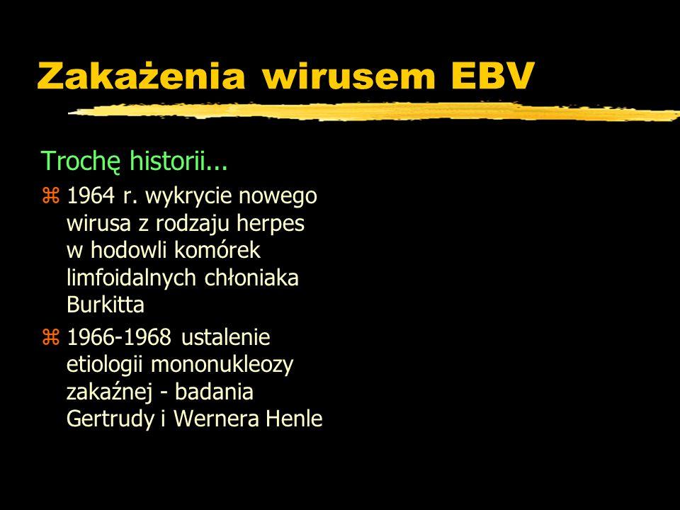 Zakażenia wirusem EBV Trochę historii...