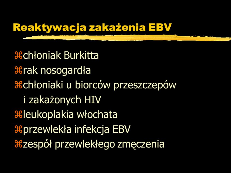 Reaktywacja zakażenia EBV