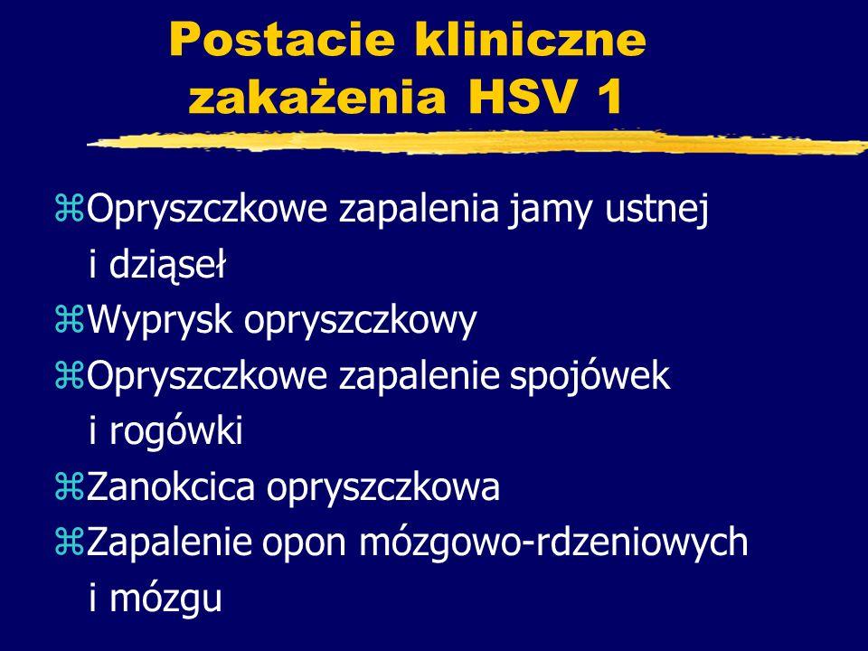 Postacie kliniczne zakażenia HSV 1