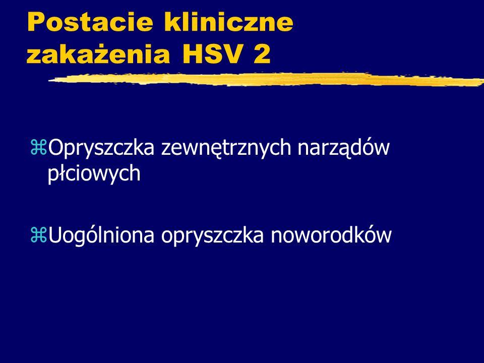 Postacie kliniczne zakażenia HSV 2