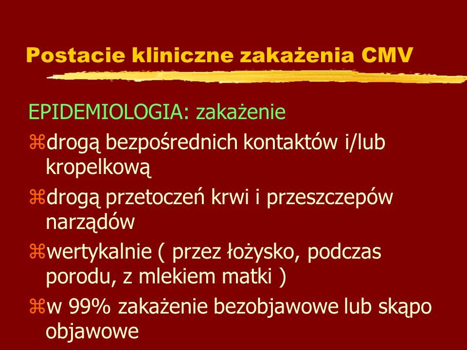 Postacie kliniczne zakażenia CMV