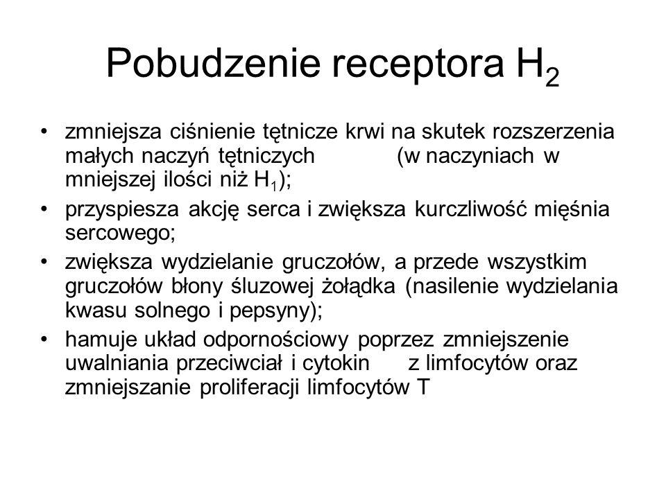 Pobudzenie receptora H2