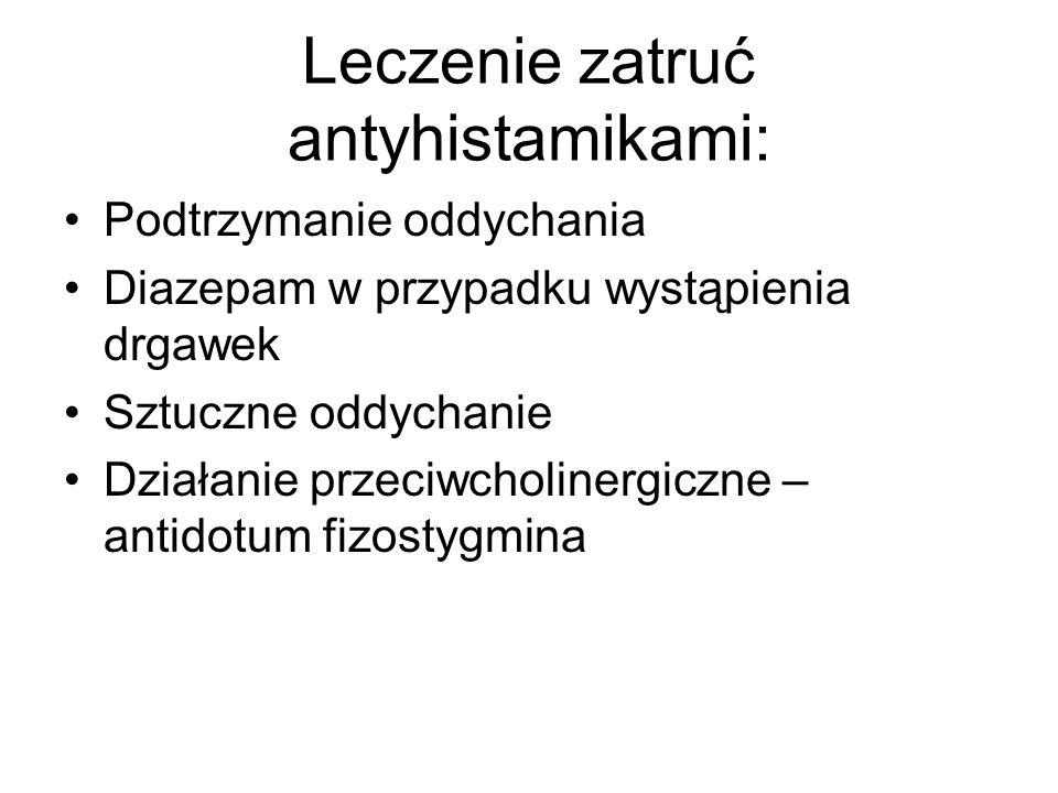 Leczenie zatruć antyhistamikami: