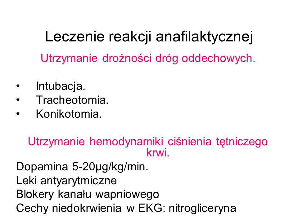 Leczenie reakcji anafilaktycznej